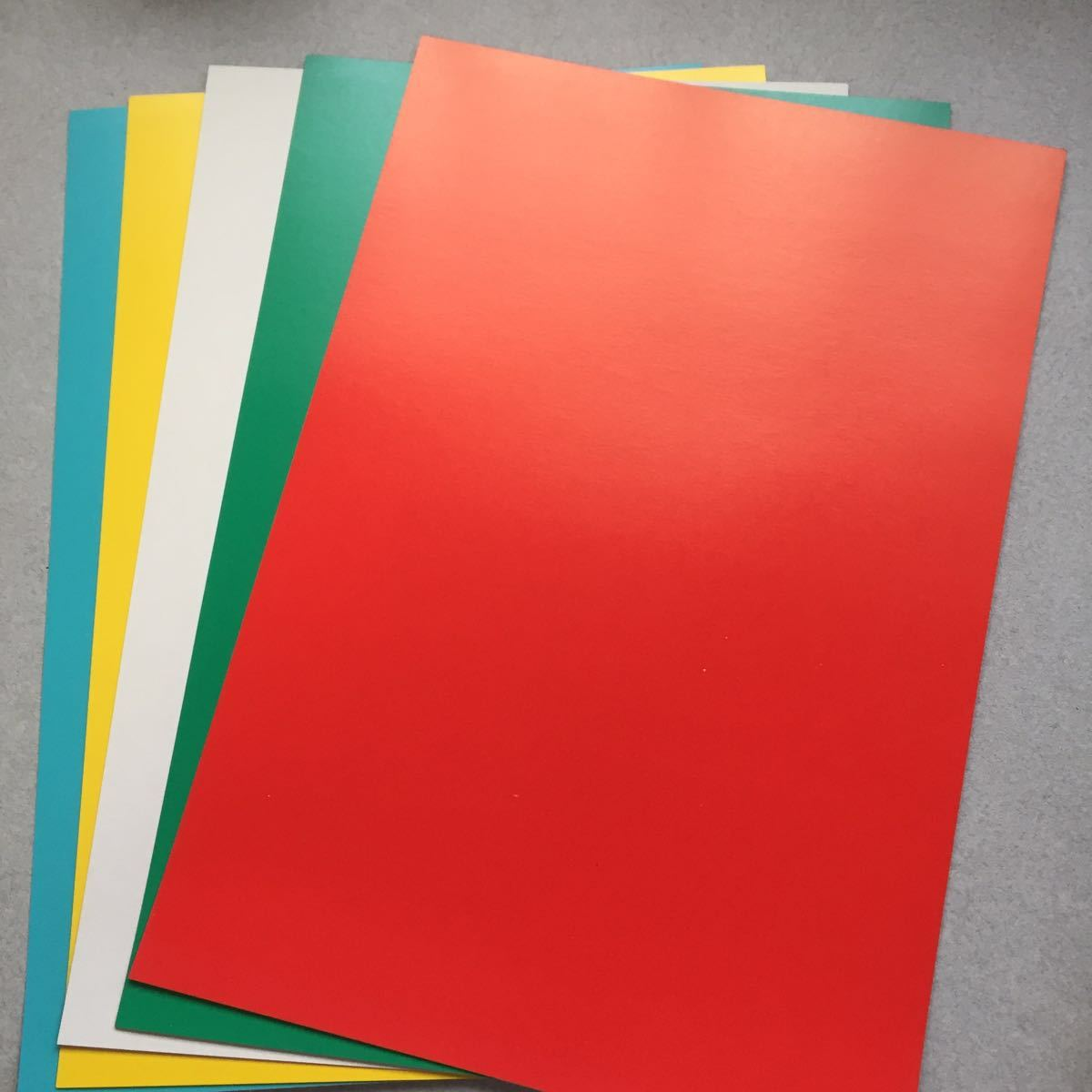 色方眼厚紙新品未使用_画像1