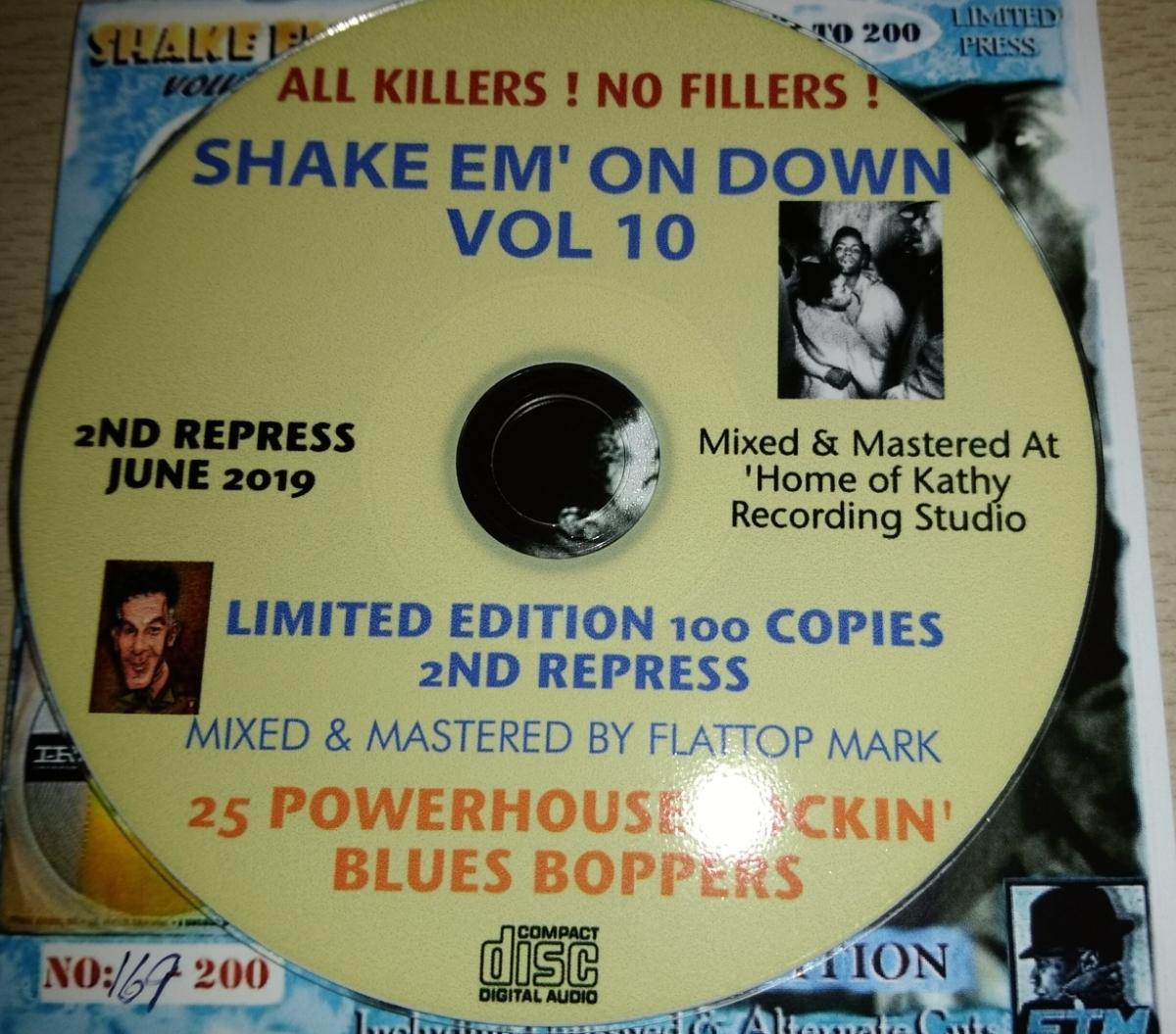 貴重・限定200枚 / SHAKE EM ON DOWN VOL 10 - ROCKIN' BLUES BOPPERS CDR / 25 x Dance Floor Killers / ロカビリー レコードホップ_画像3
