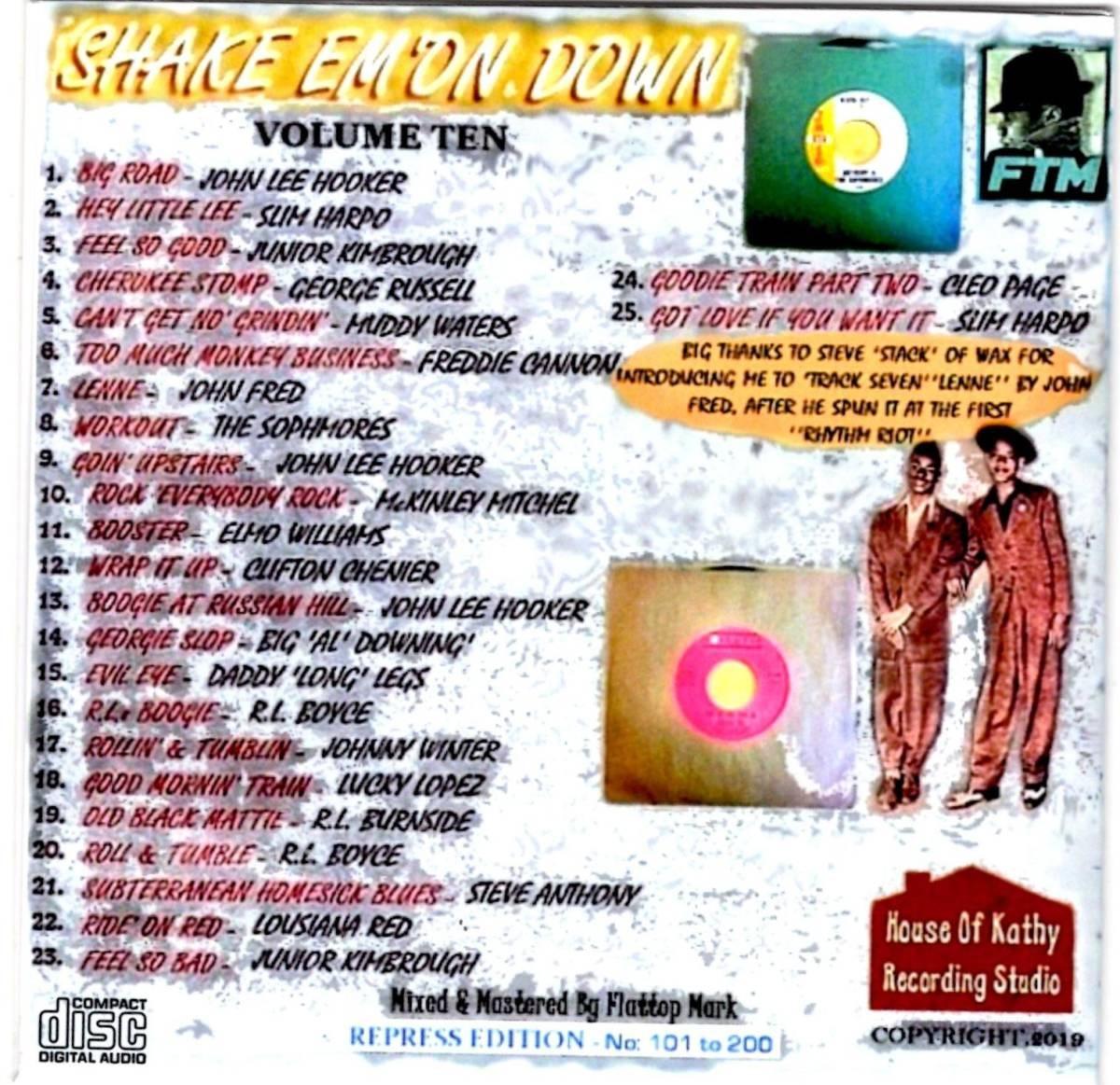 貴重・限定200枚 / SHAKE EM ON DOWN VOL 10 - ROCKIN' BLUES BOPPERS CDR / 25 x Dance Floor Killers / ロカビリー レコードホップ_画像2