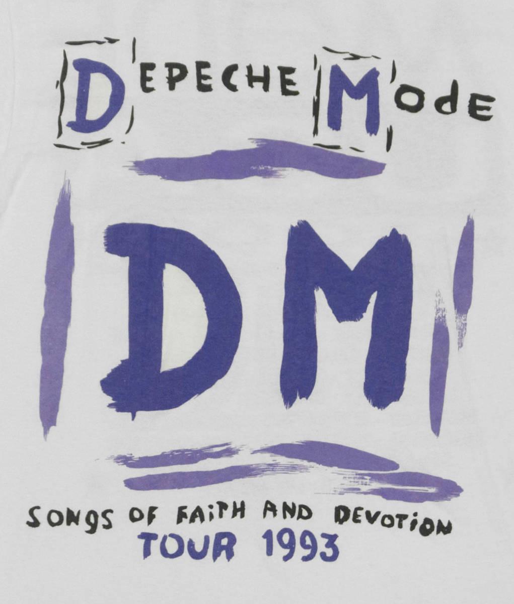 激レア! 1993 DEPECHE MODE 『SONG OF FAITH AND DEVOTION』 ツアー Tシャツ NEW ORDER PET SHOP BOYS PRIMAL SCREAM JESUS AND MARY CHAIN_画像4