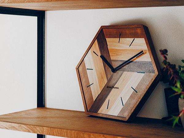 ウォールクロック 掛け時計 レトロ 静か スイーブムーブメント おしゃれ 壁掛け 6角形 リビング 寝室_画像1