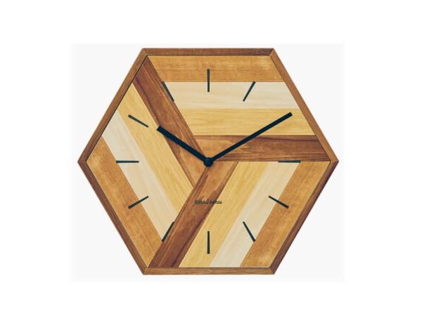 ウォールクロック 掛け時計 レトロ 静か スイーブムーブメント おしゃれ 壁掛け 6角形 リビング 寝室_画像3