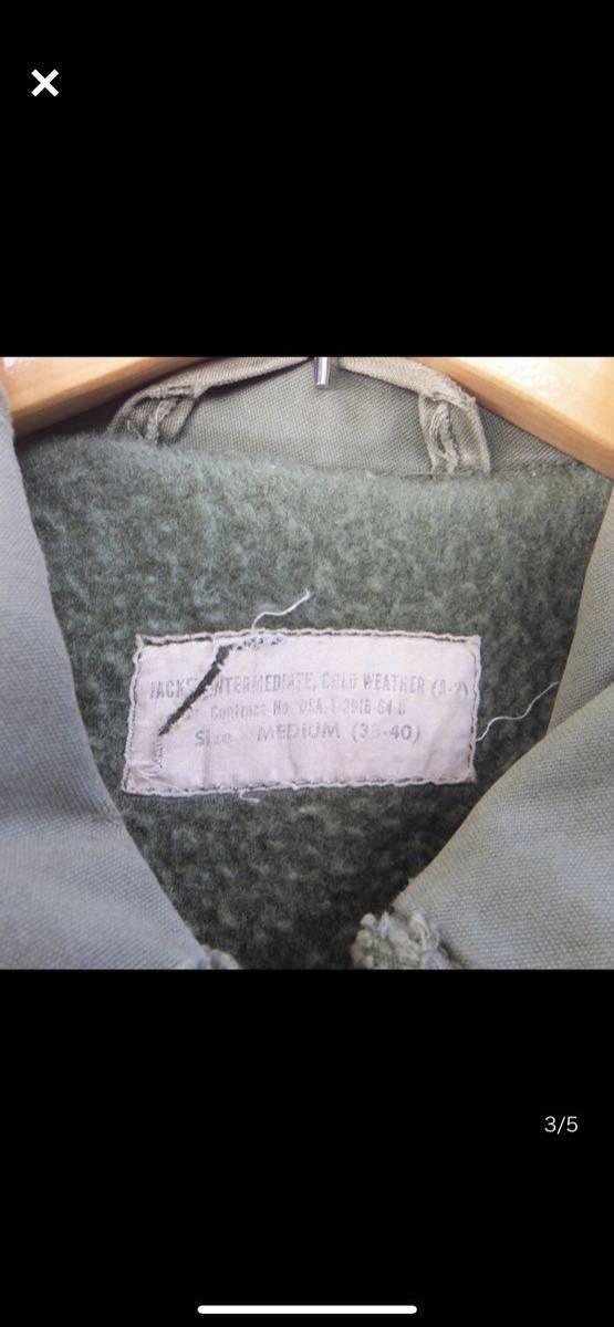 RARE 1964年製 a2 初期 60's デッキジャケット n1 ビンテージ ミリタリー レア M 38 40_画像2