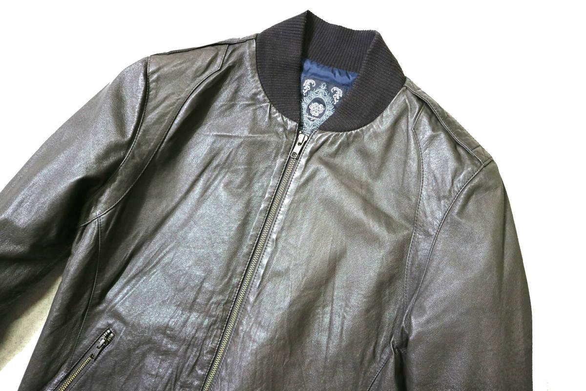 概ね美品/美形!◆Demagogue デマゴーグ ピッグスキン レザージャケット◆Mサイズ(身長169-174cm位) 春秋レザー_画像3
