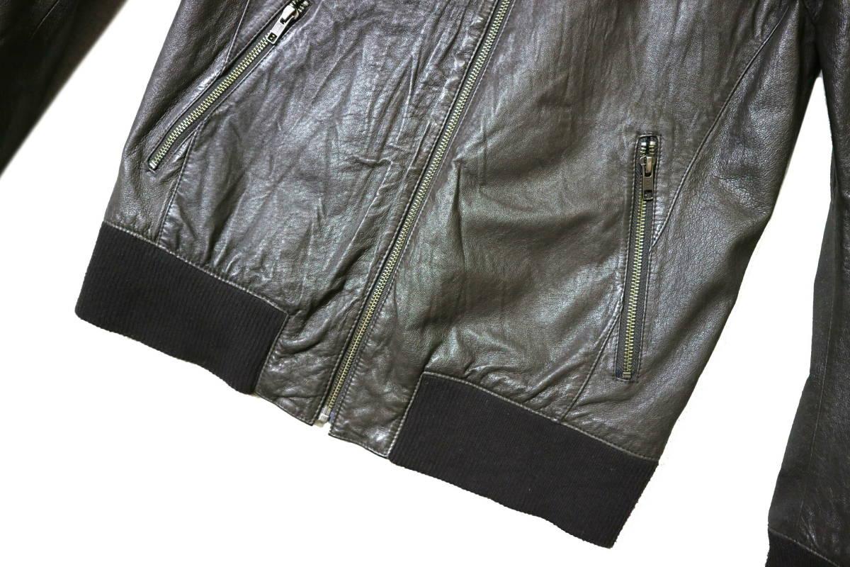 概ね美品/美形!◆Demagogue デマゴーグ ピッグスキン レザージャケット◆Mサイズ(身長169-174cm位) 春秋レザー_画像4