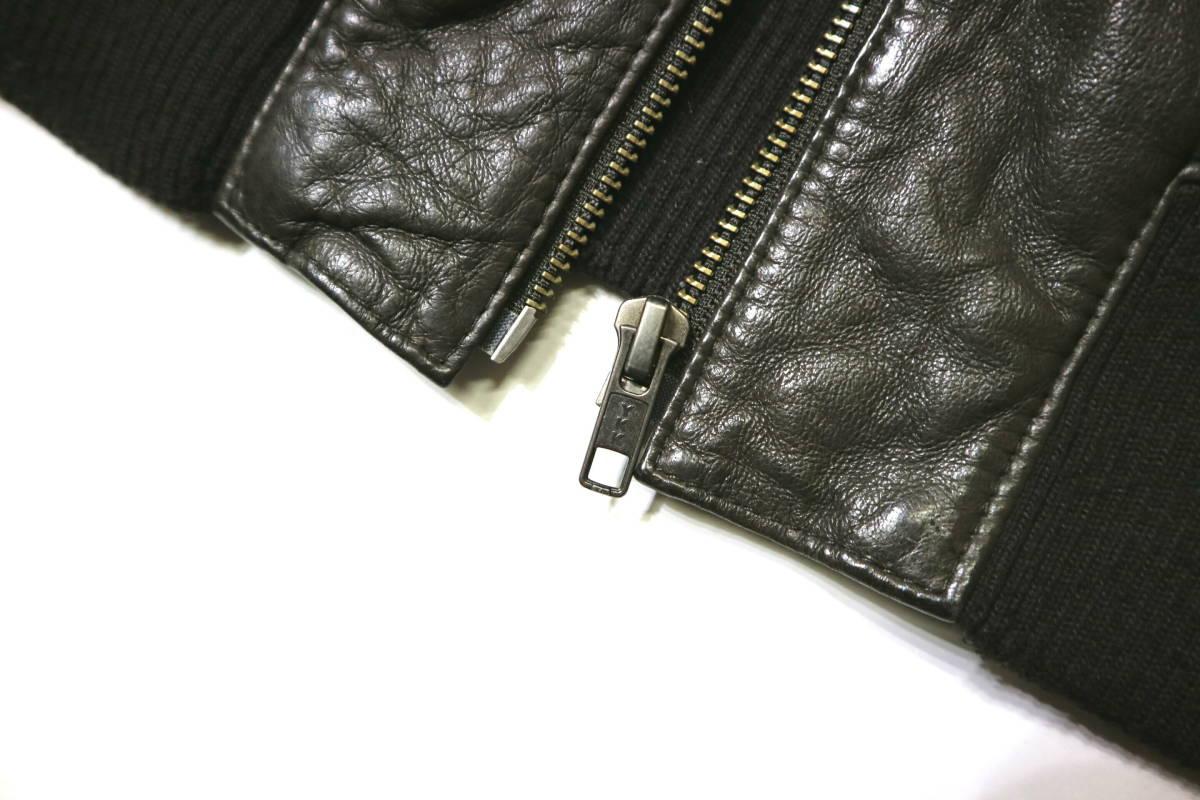 概ね美品/美形!◆Demagogue デマゴーグ ピッグスキン レザージャケット◆Mサイズ(身長169-174cm位) 春秋レザー_画像5