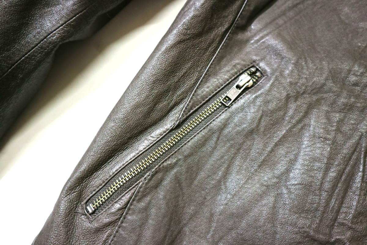概ね美品/美形!◆Demagogue デマゴーグ ピッグスキン レザージャケット◆Mサイズ(身長169-174cm位) 春秋レザー_画像7