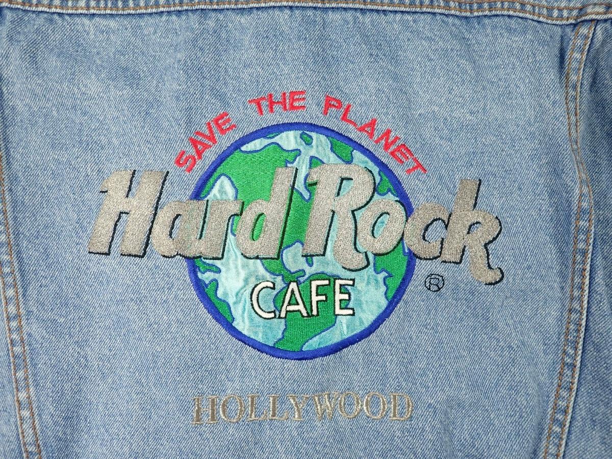 460/Hard Rock CAFE ハードロックカフェ Lサイズ Gジャン デニム ジャケット 刺繍 古着 オーバーサイズ ゆるだぼ ヴィンテージ ビンテージ_画像7