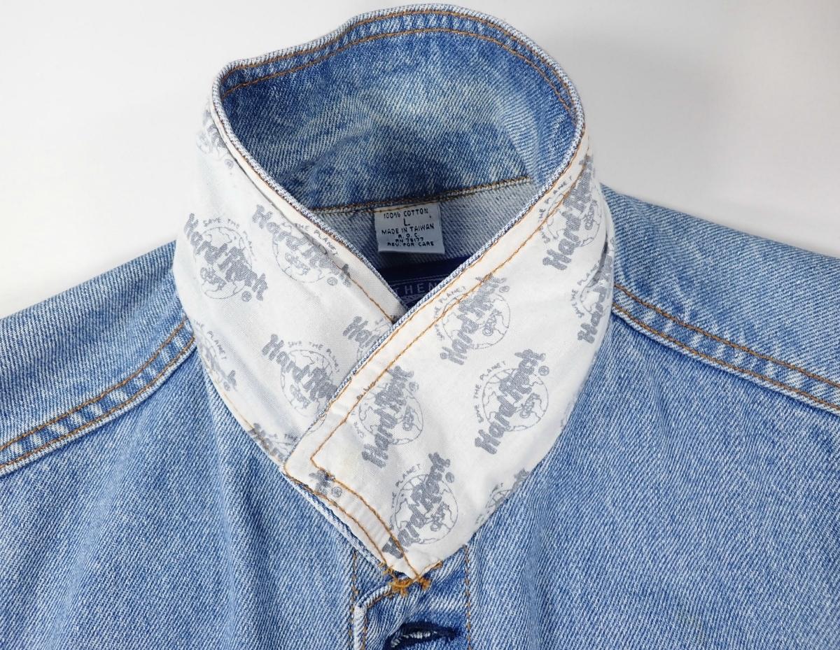 460/Hard Rock CAFE ハードロックカフェ Lサイズ Gジャン デニム ジャケット 刺繍 古着 オーバーサイズ ゆるだぼ ヴィンテージ ビンテージ_画像5