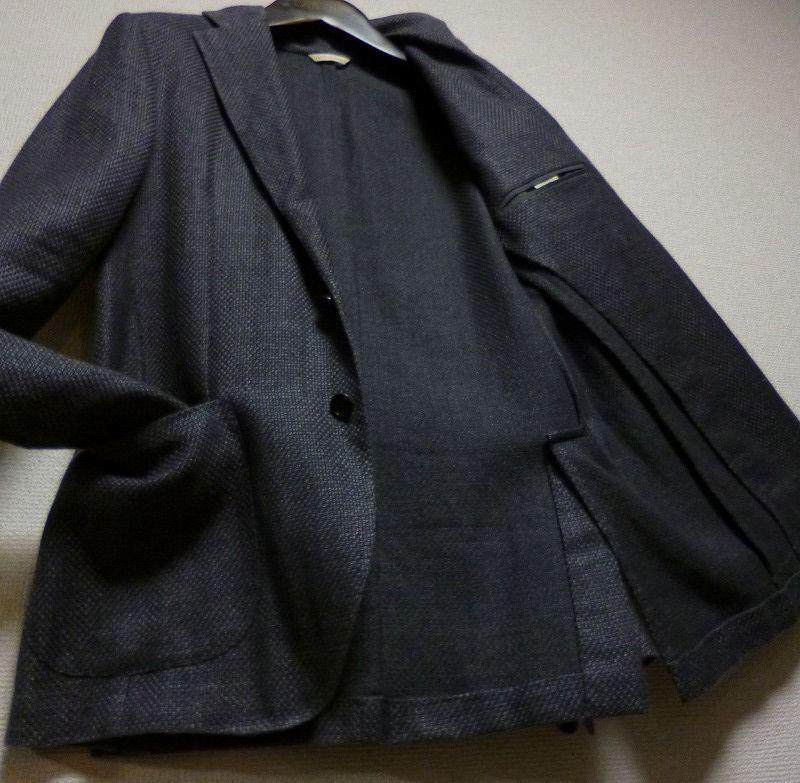 極品! 18万! ☆De Petrillo☆デ ペトリロ 最高級織り柄入りジャケット! 圧倒的高級感! 超優雅! 完全別格! 圧倒的! イタリア製! 新同極美品!