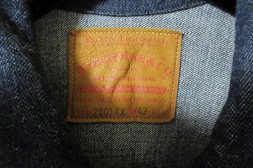 WAREHOUSE/ウエアハウス Lot2001XX 1st TYPE 42インチ アメカジ 定番 ヴィンテージ デニム デニムジャケット _画像2