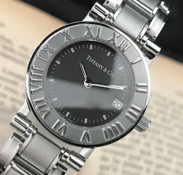 【ティファニー Tiffany&Co ☆ アトラス 】クオーツ レディース 腕時計 美品_画像2