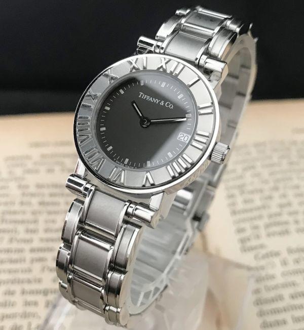 【ティファニー Tiffany&Co ☆ アトラス 】クオーツ レディース 腕時計 美品_画像4