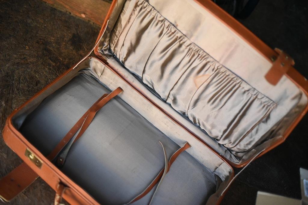 686 ヴィンテージ トランクケース 革鞄 英国製 アンティーク ビンテージ  フランス イギリス レトロ 旅行 トラベルケース_画像7