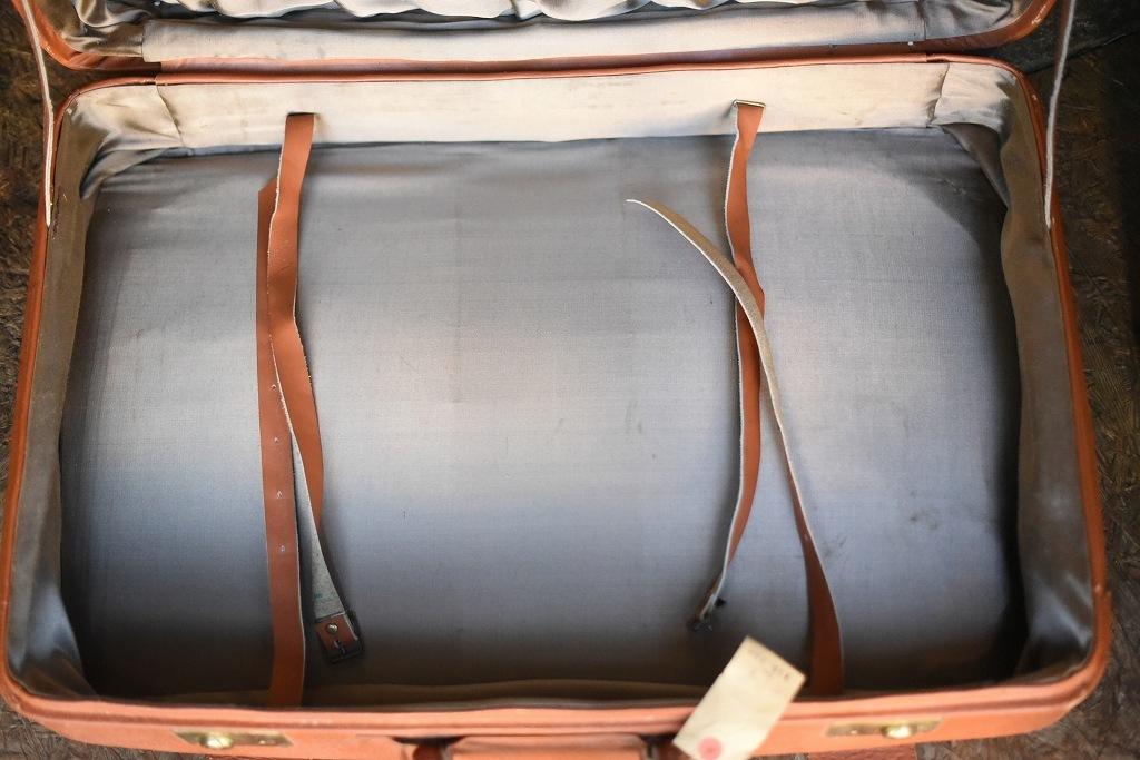 686 ヴィンテージ トランクケース 革鞄 英国製 アンティーク ビンテージ  フランス イギリス レトロ 旅行 トラベルケース_画像8