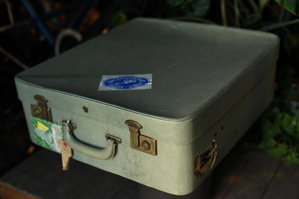 984 ヴィンテージ トランクケース 革鞄 英国製 アンティーク ビンテージ  フランス イギリス レトロ 旅行 トラベルケース_画像1