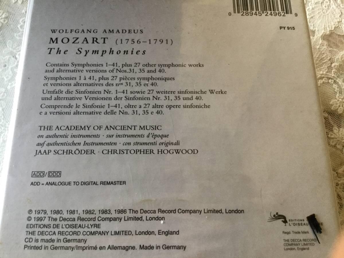 ホグウッド指揮エンシェント室内管弦楽団 モーツァルト:交響曲全集(19CD ドイツ盤)_画像2