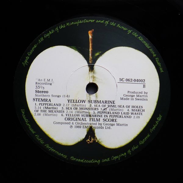 希少スウェーデン委託プレス★極美盤★ビートルズ The Beatles★イエローサブマリン Yellow Submarine_画像2