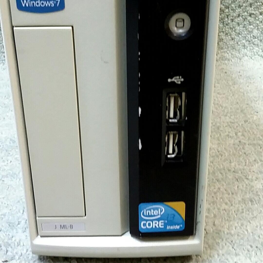 NEC Mate J ML-B PC-MJ32LLZCB ★ Core i3-550 3.20GHz/メモリ4GB/HDD160GB/DVD/office/Windows 10/Win 7 Professional/XP Pro Sp3_画像4