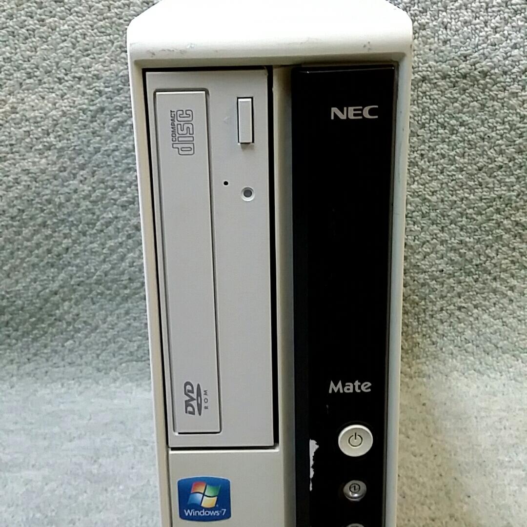 NEC Mate J ML-B PC-MJ32LLZCB ★ Core i3-550 3.20GHz/メモリ4GB/HDD160GB/DVD/office/Windows 10/Win 7 Professional/XP Pro Sp3_画像3