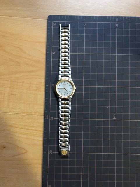 KK1035 美品 稀少 超レア ヴィンテージ CITIZEN/シチズン EXCEED エクシード コンビ 5639-F60935 純正SSブレス クオーツ メンズ 腕時計_画像2