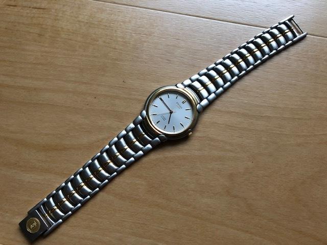 KK1035 美品 稀少 超レア ヴィンテージ CITIZEN/シチズン EXCEED エクシード コンビ 5639-F60935 純正SSブレス クオーツ メンズ 腕時計