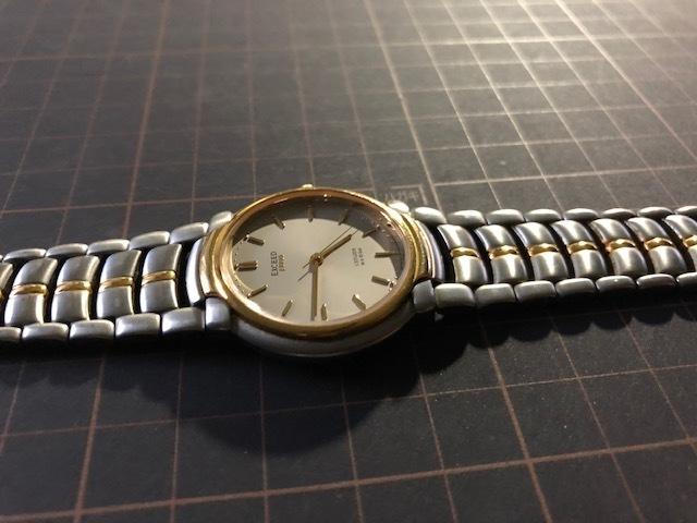 KK1035 美品 稀少 超レア ヴィンテージ CITIZEN/シチズン EXCEED エクシード コンビ 5639-F60935 純正SSブレス クオーツ メンズ 腕時計_画像5