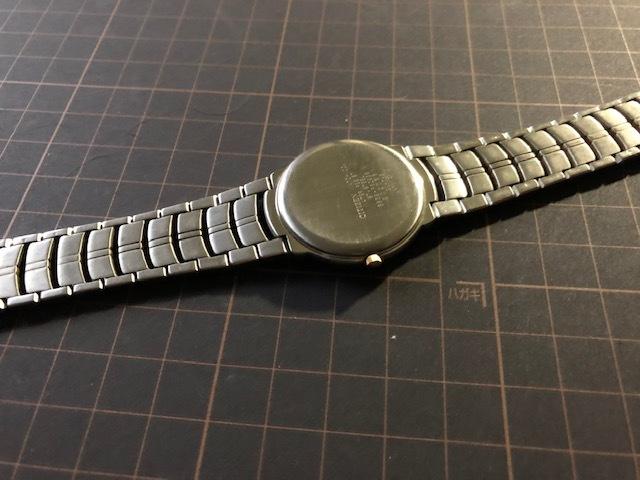 KK1035 美品 稀少 超レア ヴィンテージ CITIZEN/シチズン EXCEED エクシード コンビ 5639-F60935 純正SSブレス クオーツ メンズ 腕時計_画像6