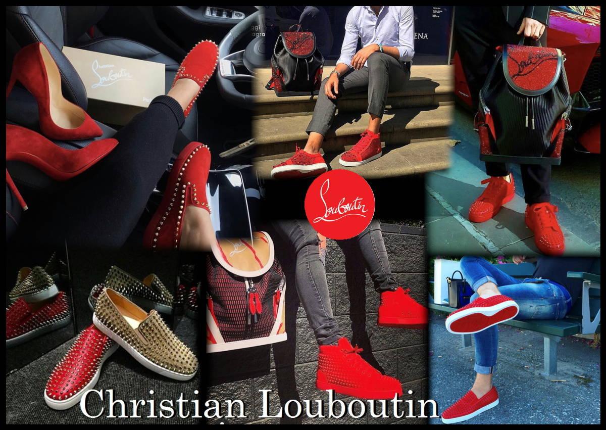 Christian Louboutin ローラーボート 正規品 新品 オールレッド メンズ スニーカー スリッポン 赤 41 1/2 クリスチャンルブタン スタッズ_画像9