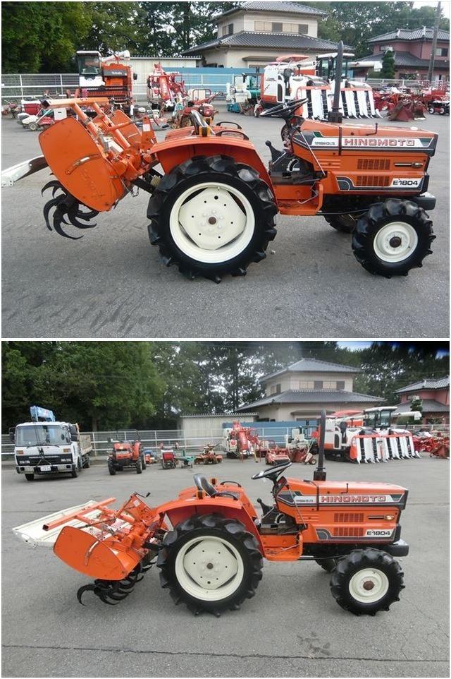 ヒノモト:日の本:E1804:現状車:トラクター:4駆:18馬力:耕運機:耕耘機:畑:田んぼ:E1804:HIKOUSEN_画像4