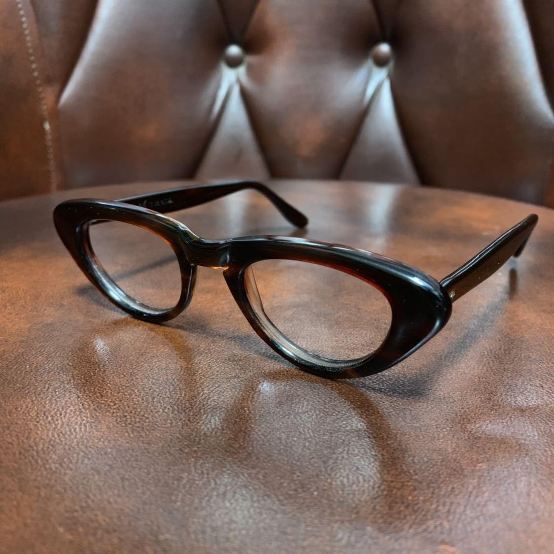 ヴィンテージ 50's デッドストック IMPERIAL セルフレーム 眼鏡 メガネ フォックス キャッツアイ_画像1
