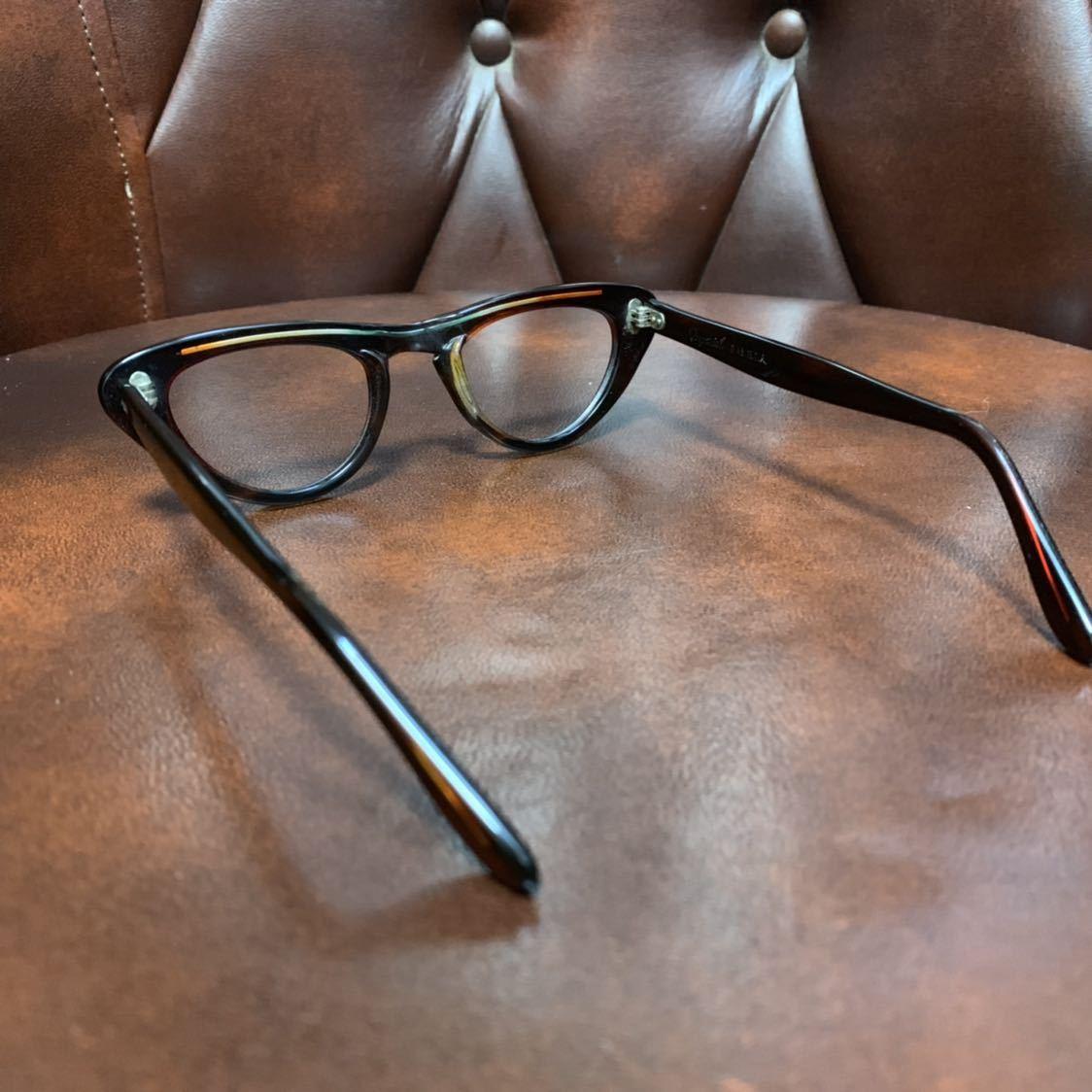 ヴィンテージ 50's デッドストック IMPERIAL セルフレーム 眼鏡 メガネ フォックス キャッツアイ_画像2