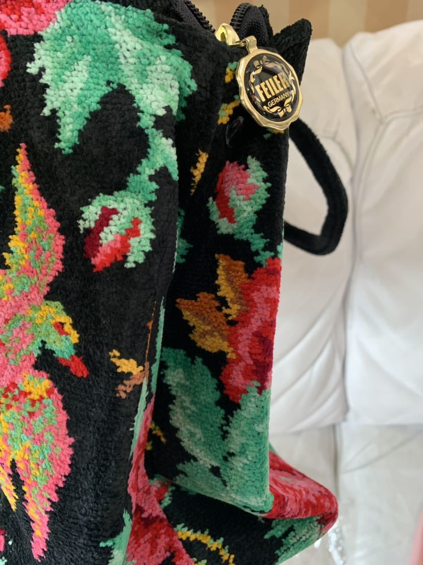 大値下げ フェイラー パラディス 新品タグ付き レア トート 通勤 マダム 高級 マザーズバッグ カバン バッグ タオル地_画像9