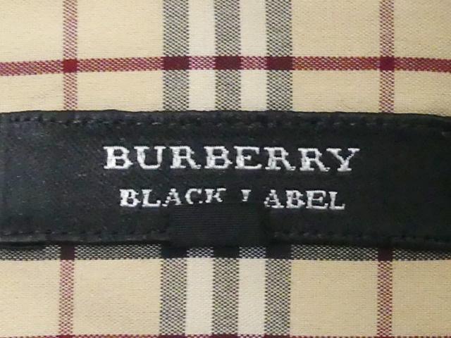 即決★BURBERRY BLACK LABEL★メンズL 廃版 ノバチェック シャツ バーバリーブラックレーベル 3 茶 三陽商会正規 ワイシャツ 日本製 _画像8