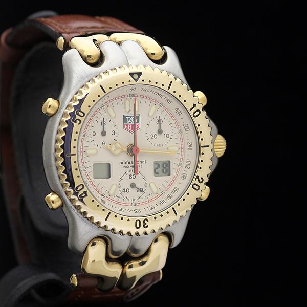 1円 美品 TAGHEUERタグホイヤー s/elセル セナモデル CG1123 メンズ クォーツ 腕時計 ク