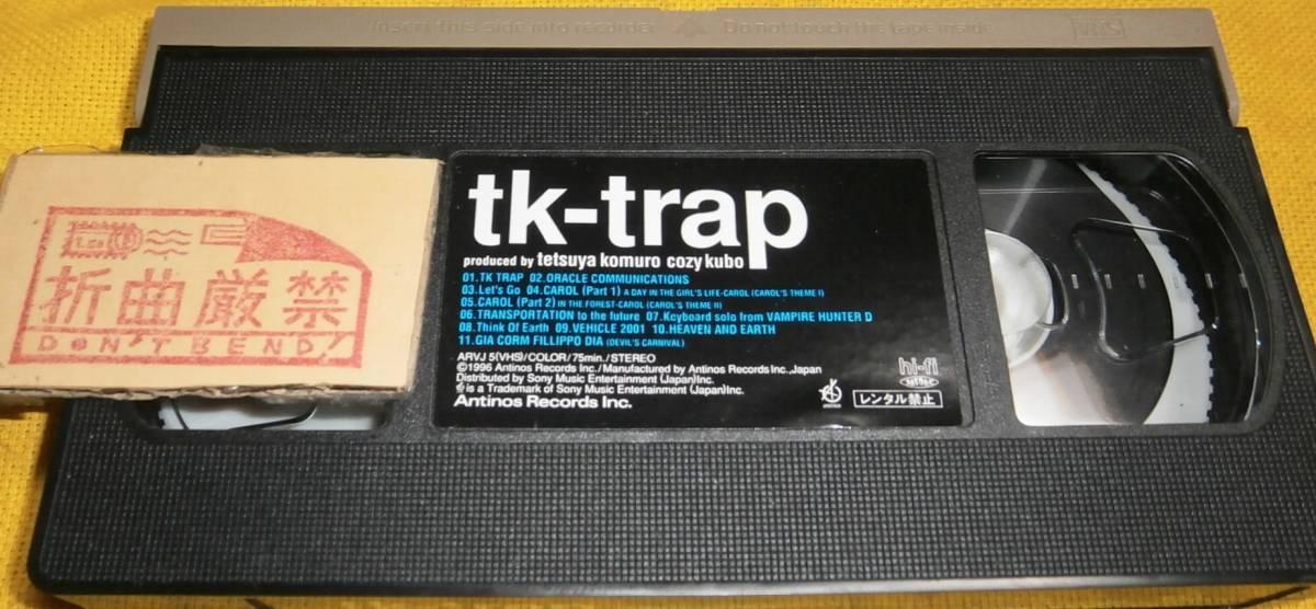 未DVD化 激レア 市販VHSビデオ tk-trap 小室哲哉 久保こーじ 外箱ライナーポストカード2枚付き TM NETWORK TMN TMネットワーク globe 即決_画像4