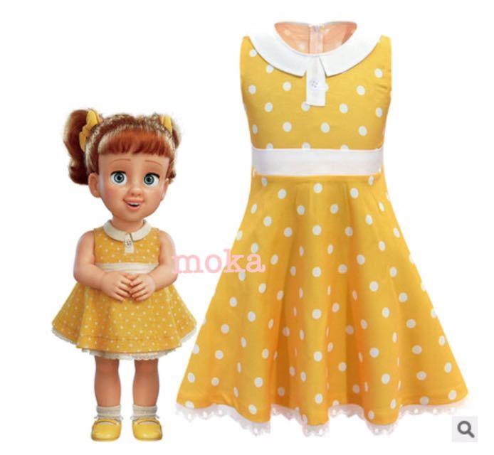 新品 120 トイストーリー4 ギャビーギャビー ディズニー プリンセス 子供 コスプレ コスチューム 衣装 ワンピース ドレス ハロウィン 仮装