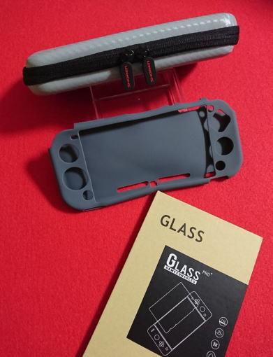 【新品】Nintendo Switch Lite専用★(グレー)ケース+シリコン カバー+液晶保護 強化ガラスフィルム★任天堂 スイッチ ライト・即決_画像1