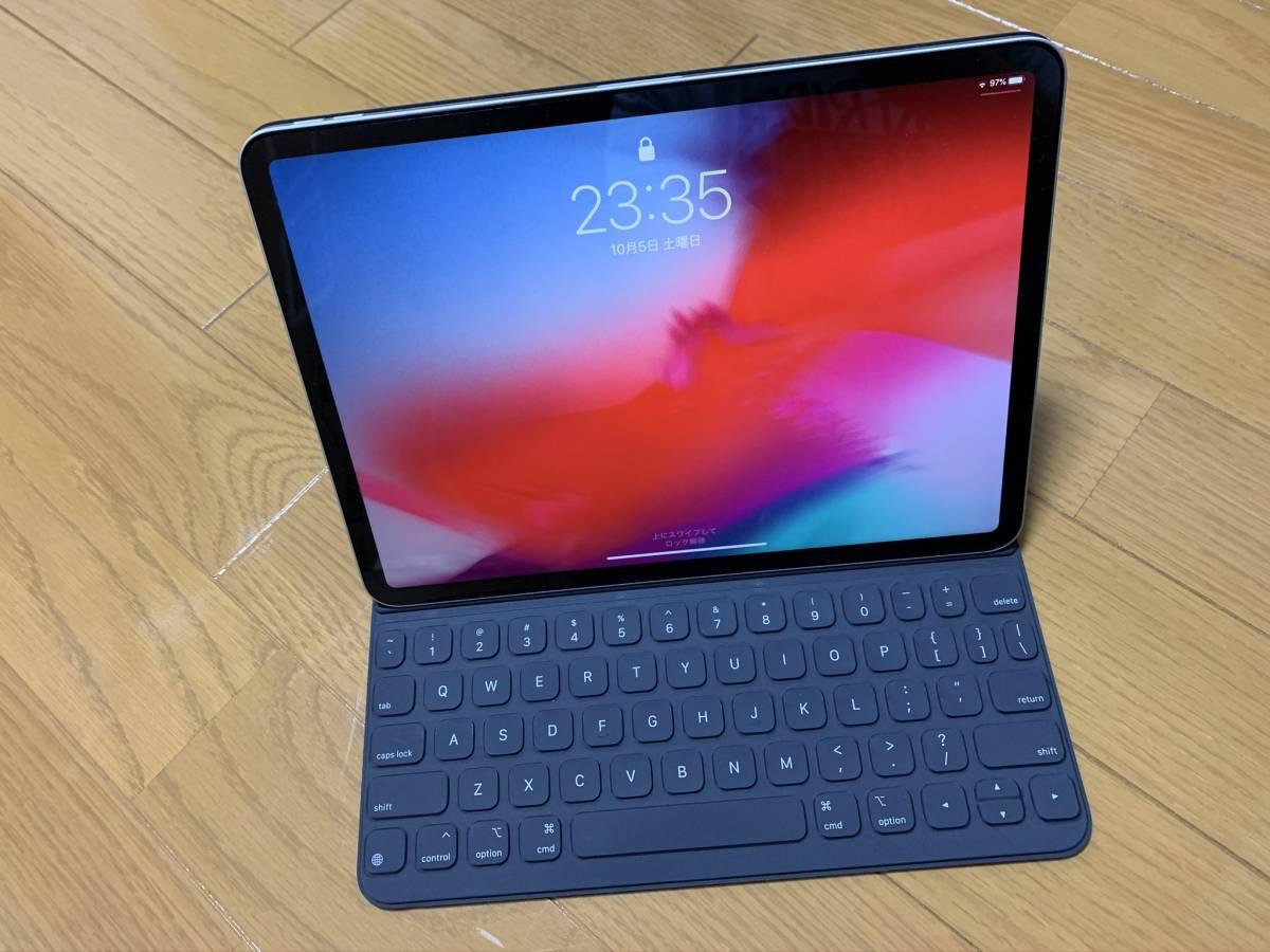 【美品】iPad Pro 11インチ Smart Keyboard Folio USキーボード MU8G2LL/A / 純正 Apple アップル 英語 スマート フォリオ ケース カバー_画像10
