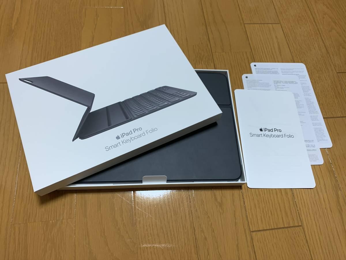 【美品】iPad Pro 11インチ Smart Keyboard Folio USキーボード MU8G2LL/A / 純正 Apple アップル 英語 スマート フォリオ ケース カバー_画像1