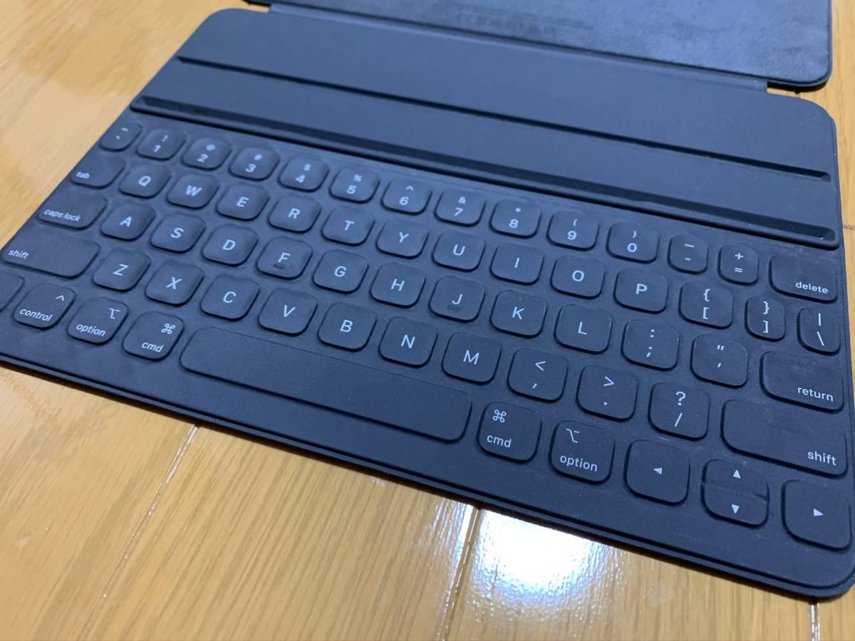 【美品】iPad Pro 11インチ Smart Keyboard Folio USキーボード MU8G2LL/A / 純正 Apple アップル 英語 スマート フォリオ ケース カバー_画像4