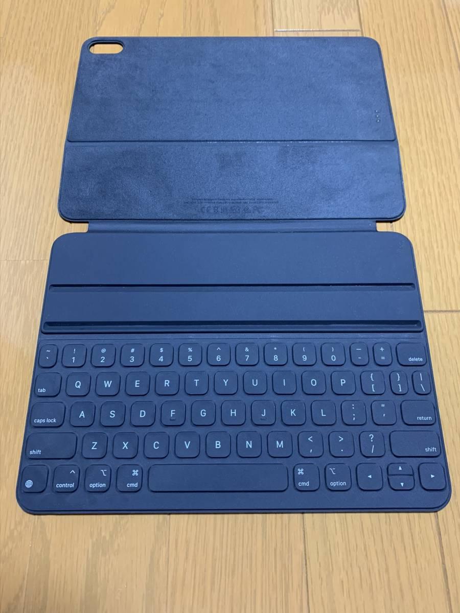 【美品】iPad Pro 11インチ Smart Keyboard Folio USキーボード MU8G2LL/A / 純正 Apple アップル 英語 スマート フォリオ ケース カバー_画像2
