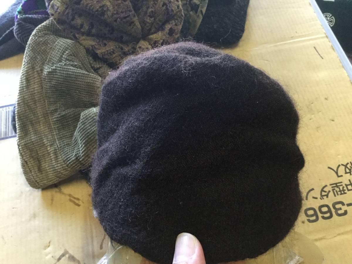 1609カシラCA4LAウールWOOLモヘア ツバ チェック切替ワークキャップCAP帽子モヘヤ ドゴール_画像6