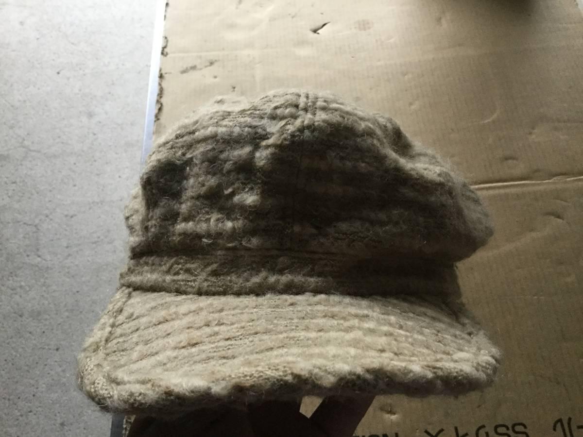 1609カシラCA4LAウールWOOLモヘア キャスケット帽子キャップCAPモヘヤ_画像4