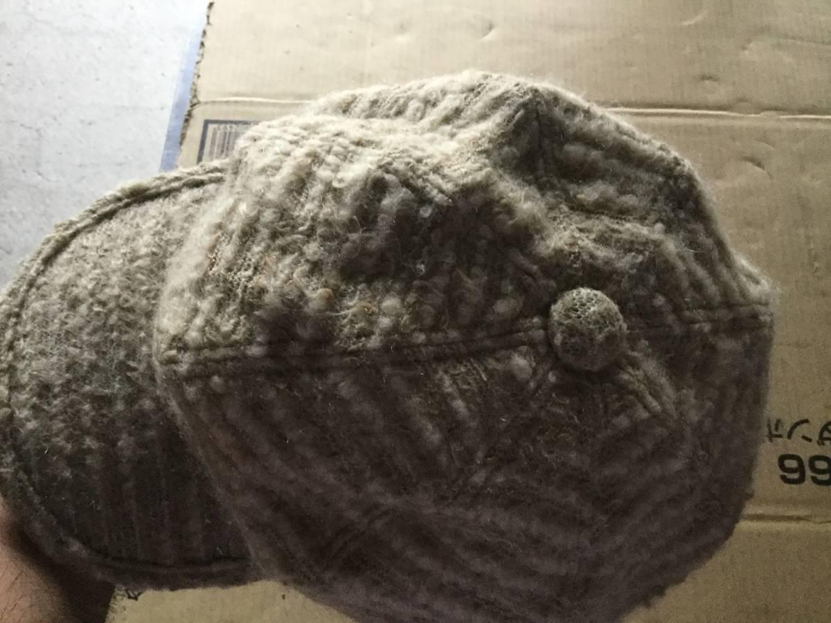 1609カシラCA4LAウールWOOLモヘア キャスケット帽子キャップCAPモヘヤ_画像6