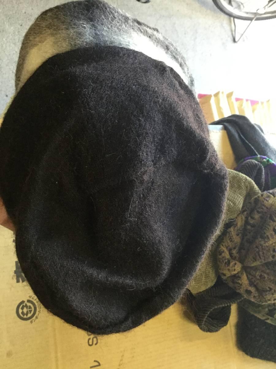 1609カシラCA4LAウールWOOLモヘア ツバ チェック切替ワークキャップCAP帽子モヘヤ ドゴール_画像7