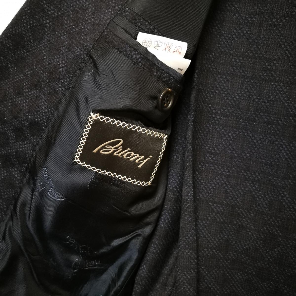 新品ブリオーニ ダークネイビースーツ サイズ44 Madison 濃紺_画像3