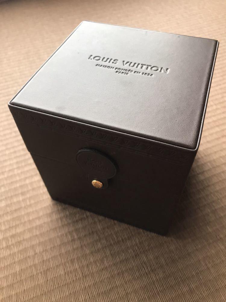 LOUIS VUITTON ルイ・ヴィトン TAMBOUR GMT タンブール オートマチック Q1131 ブラウンダイヤル 自動巻き デイト メンズ 腕時計_画像9