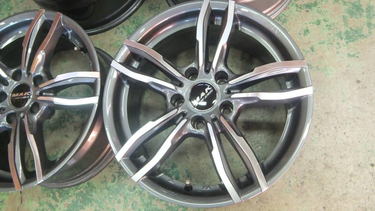 美品 MAK ルフト 17x7.5J+32 120-5H 17インチホイール 4本 BMW X1 X3 X4 Z4 3シリーズ 4シリーズ 5シリーズ_画像6