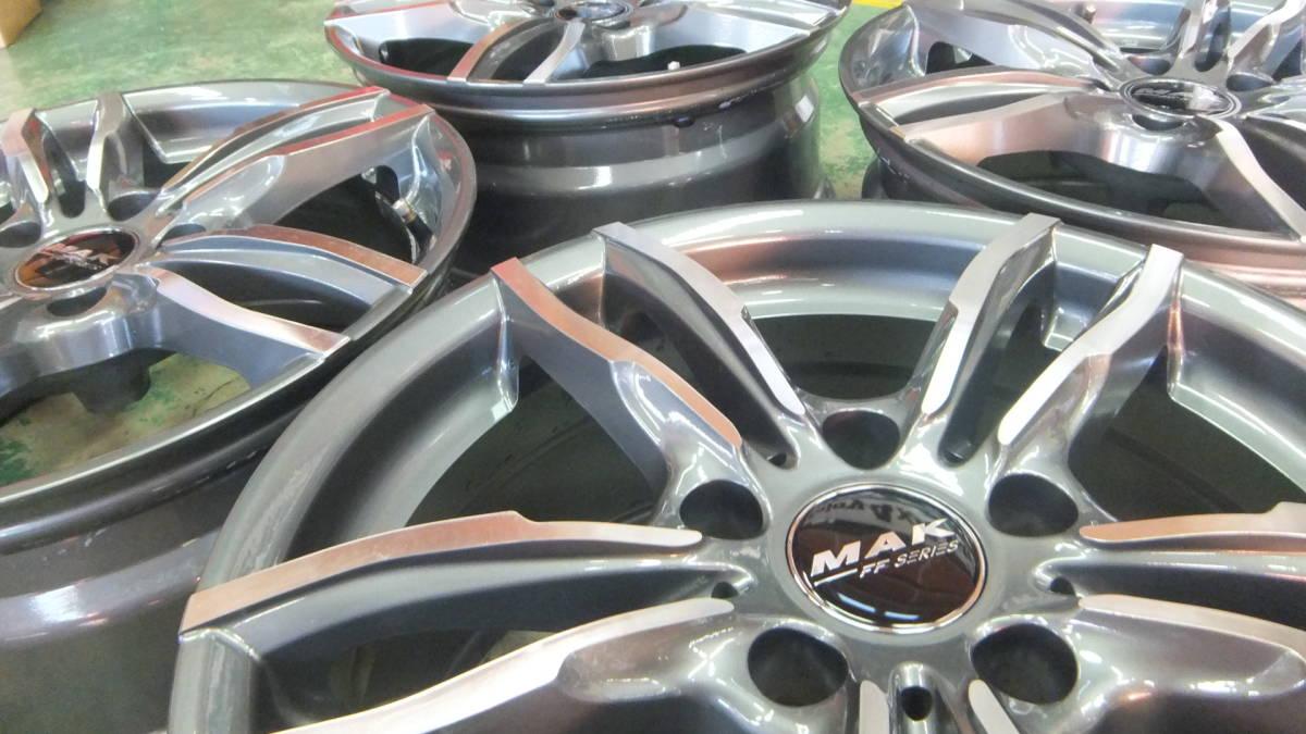 美品 MAK ルフト 17x7.5J+32 120-5H 17インチホイール 4本 BMW X1 X3 X4 Z4 3シリーズ 4シリーズ 5シリーズ_画像7